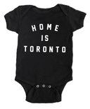 Peace Collective Home is Toronto Varsity Short Sleeve Onesie Black