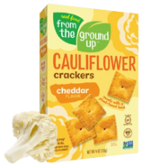 From the Ground up Cauliflower Crackers Cheddar