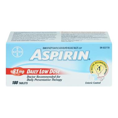 Aspirin 81mg Daily Low Dose