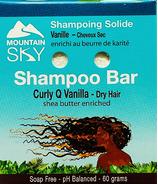 Mountain Sky Curly Q Vanilla Shampoo Bar