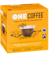 OneCoffee Organic Single Serve Coffee Breakfast Blend Medium Roast