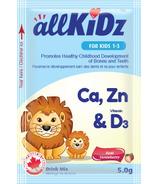 allKiDz Mélange pour boisson à base de calcium, zinc et vitamine D3