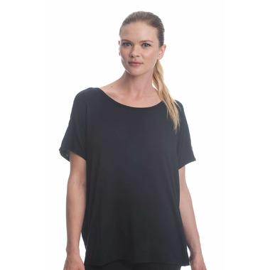 Gaiam Karma Short Sleeve Top Black