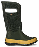 Bogs Rain Boot Maze Dark Green Mutli