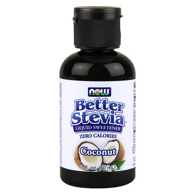 NOW Better Stevia Liquid Sweetener Coconut