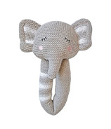 Living Textiles Knit Rattle Theodore Elephant