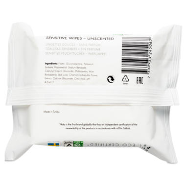 Eco by Naty Sensitive Wipes Travel Pack