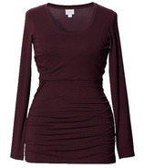 Boob Flatter Me Long Sleeve Top Plum Size S-XL