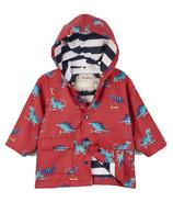 Hatley Scooting Dinos Baby Raincoat