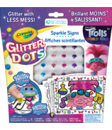 Crayola Glitter Dots Sparkle Signs Trolls World Tour