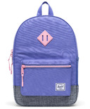 Herschel Supply Heritage Youth Dusted Peri, Polka & Raven Crosshatch