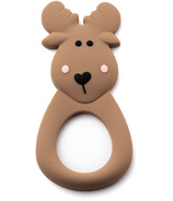 Little Cheeks Moose Silicone Teether Brown