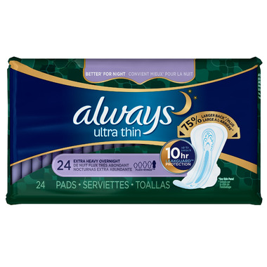 Always Ultra Thin Pads Extra Heavy Overnight with Flexi-Wings