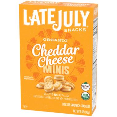 Late July Organic Cheddar Cheese Mini Sandwich Crackers