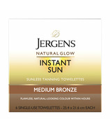 Jergens Natural Glow Instant Sun Towelettes Medium Bronze