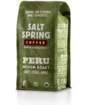 Salt Spring Coffee Peru Medium Roast Whole Bean Coffee