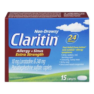 Claritin Extra Strength Non-Drowsy Allergy & Sinus