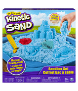 The One & Only Kinetic Sand Sandbox Playset with Blue Sand and 3 Molds