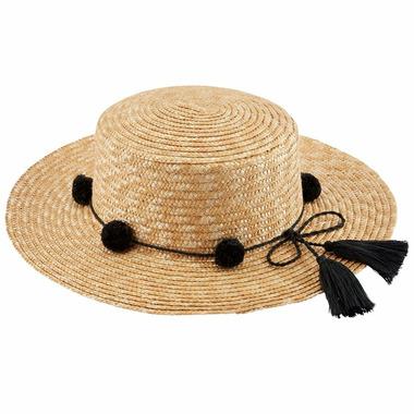Mud Pie Hilton Pom Pom Sun Hat