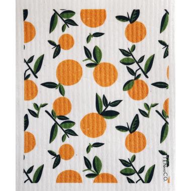 Ten & Co. Swedish Sponge Cloth Vintage Citrus Orange
