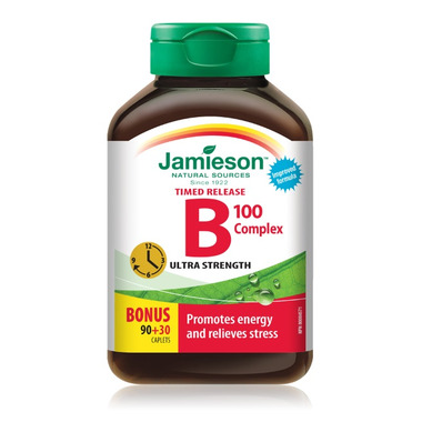 Jamieson Vitamin B 100 Complex Time Release Caplets