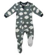 ZippyJamz Organic Cotton Footed Sleeper Starry Clouds