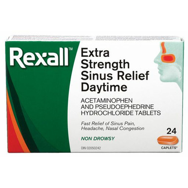 Rexall Extra Strength Sinus & Pain Relief Daytime