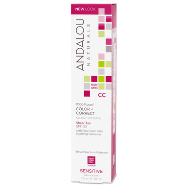 ANDALOU naturals 1000 Roses CC Colour and Correct Cream Sheer Tan Tint