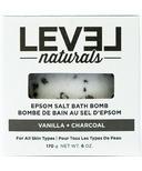 Level Naturals Epsom Salt Bath Bomb Vanilla + Charcoal