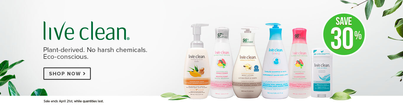 Save 30% off Live Clean