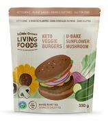 hOMe Grown Living Keto U-Bake Veggie Burgers Sunflower Mushroom