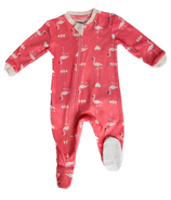 ZippyJamz Footed Organic Cotton Sleeper Flippin Flamingo