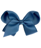 "Baby Wisp Pinch Clip Americana 4"" Bow Antique Blue"