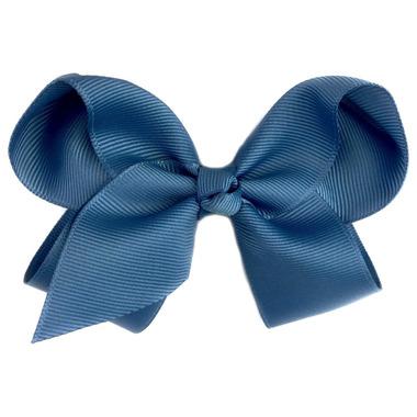 "Baby Wisp Pinch Clip Americana 4\"" Bow Antique Blue"