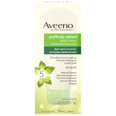 Aveeno Positively Radiant Body Cream Dark Spot Corrector SPF 15