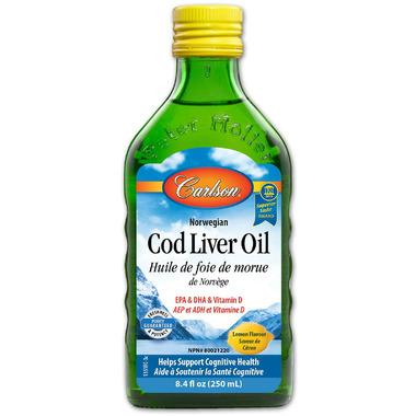 Carlson Norwegian Cod Liver Oil Lemon Flavour Small Bottle