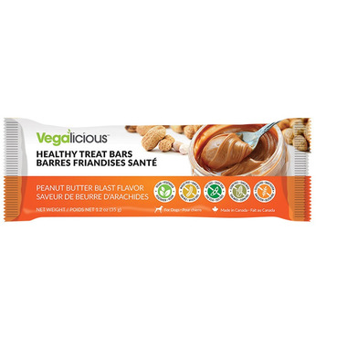 Vegilicious Healthy Pet Treat Bars Peanut Butter Blast
