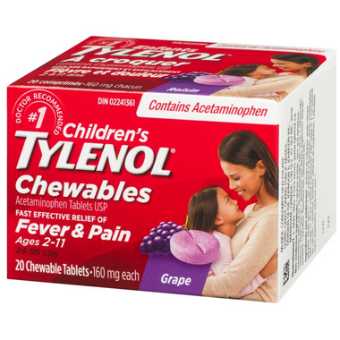 Tylenol Children\'s Chewable Tablets Grape