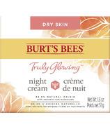 Burt's Bees Truly Glowing Night Cream for Dry Skin (Crème de nuit pour peau sèche)