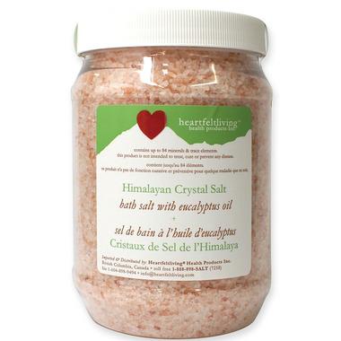 Heartfelt Living Himalayan Crystal Bath Salts Eucalyptus