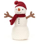 Bonhomme de neige en peluche Jellycat