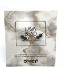 Oriwest Audrey Lava Stone Aroma Necklace
