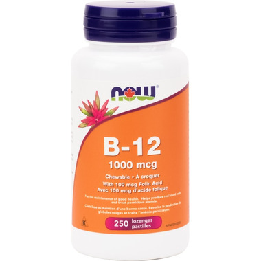 NOW Foods Chewable Vitamin B12 with Folic Acid 1000 mcg