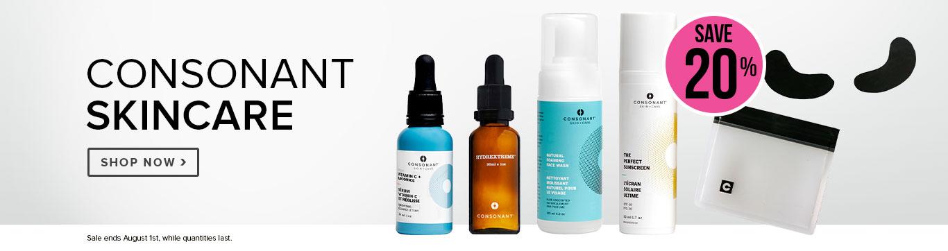 Save 20% on Consonant Skincare