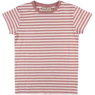 Nordic Label Short Sleeve Stripped T-Shirt Pink