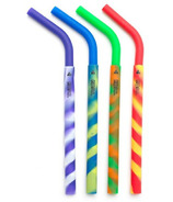 GreenPaxx Silicone Reusable Straws Crazy Stripes