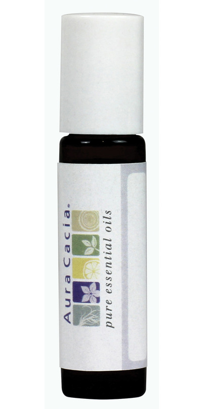 cb49906a9683 Aura Cacia Amber Roll-On Glass .31 oz Bottle with Writeable Label