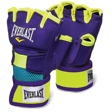 Everlast Evergel Hand Wraps Large Purple & Yellow