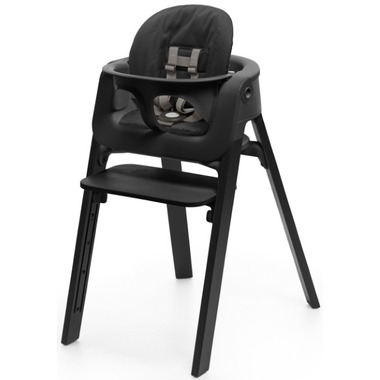 Stokke Steps High Chair Bundle Black Oak & Black Seat