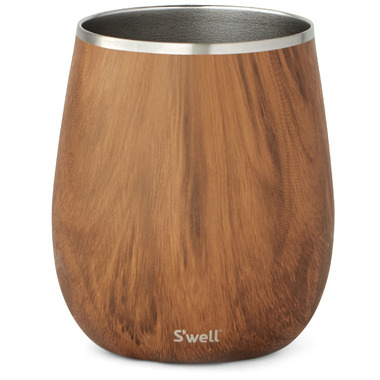 S\'well Stainless Steel Wine Tumbler Teakwood